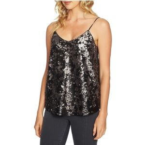 1 state sequined vneck cami tank top